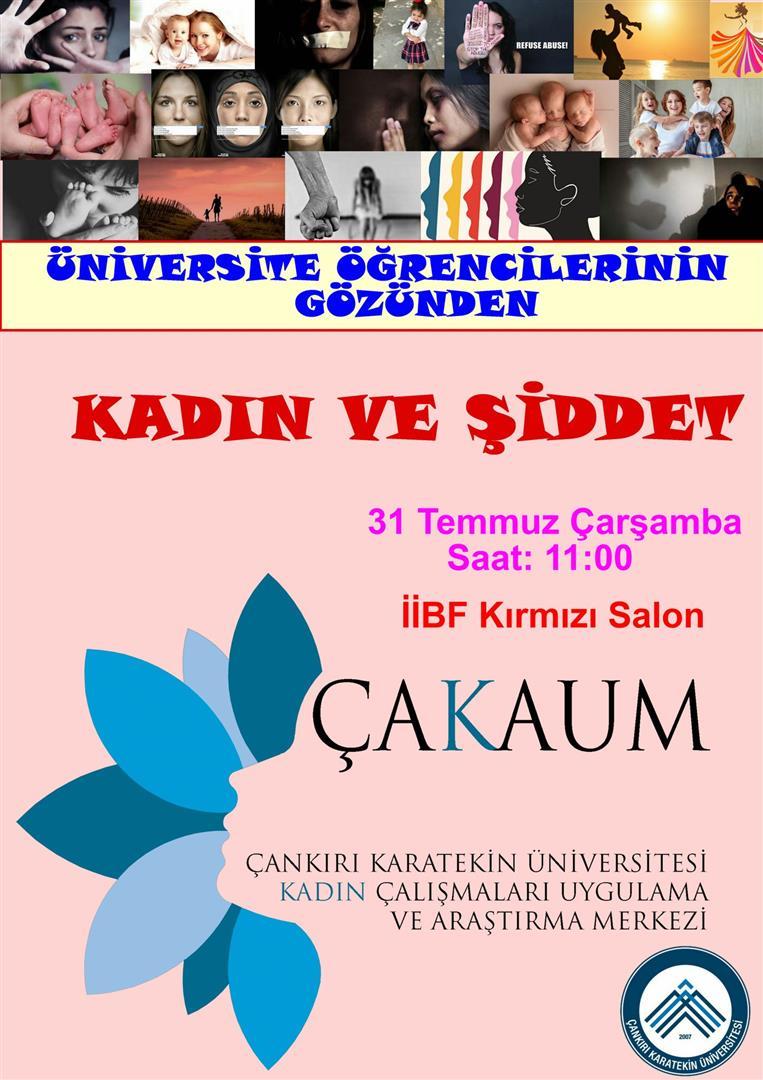 Üniversite Öğrencilerinin Gözünden Kadına Şiddet konferansı gerçekleştirildi. Resim