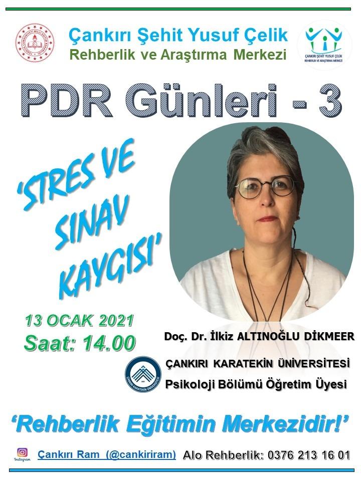 3. PDR Günleri`nde `Stres ve Sınav Kaygısı`