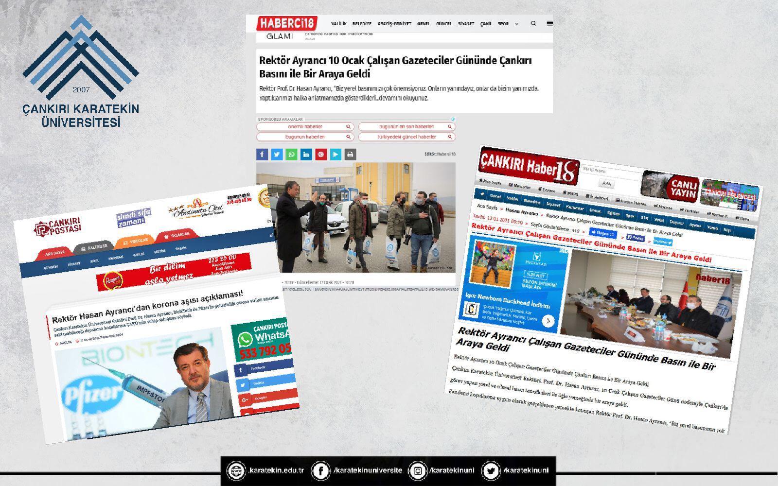 """Çankırı Basını """" Rektör Ayrancı Çankırı Tarihine Adını Altın Harflerle Yazdırdı"""""""