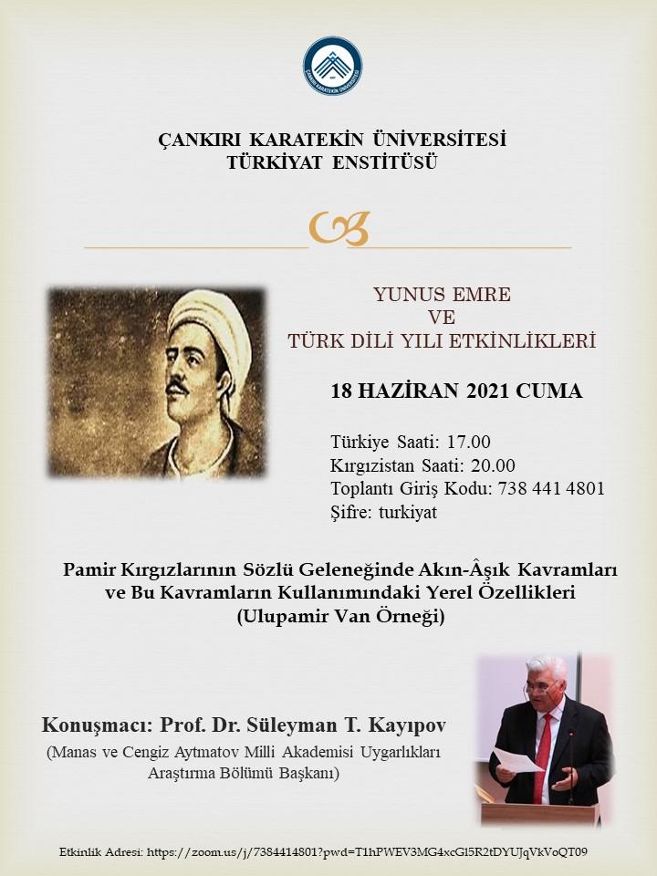 Yunus Emre ve Türk Dili Yılı Etkinlikleri