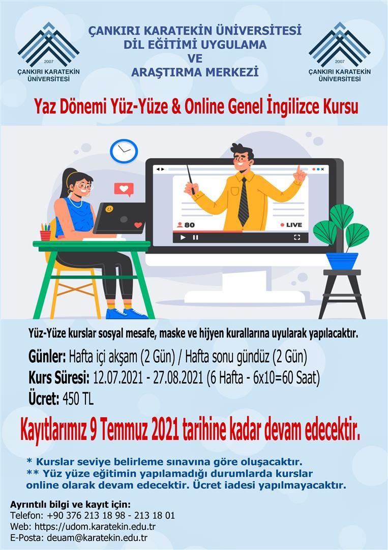 Yaz Dönemi Yüz-Yüze & Online Genel İngilizce Kursu