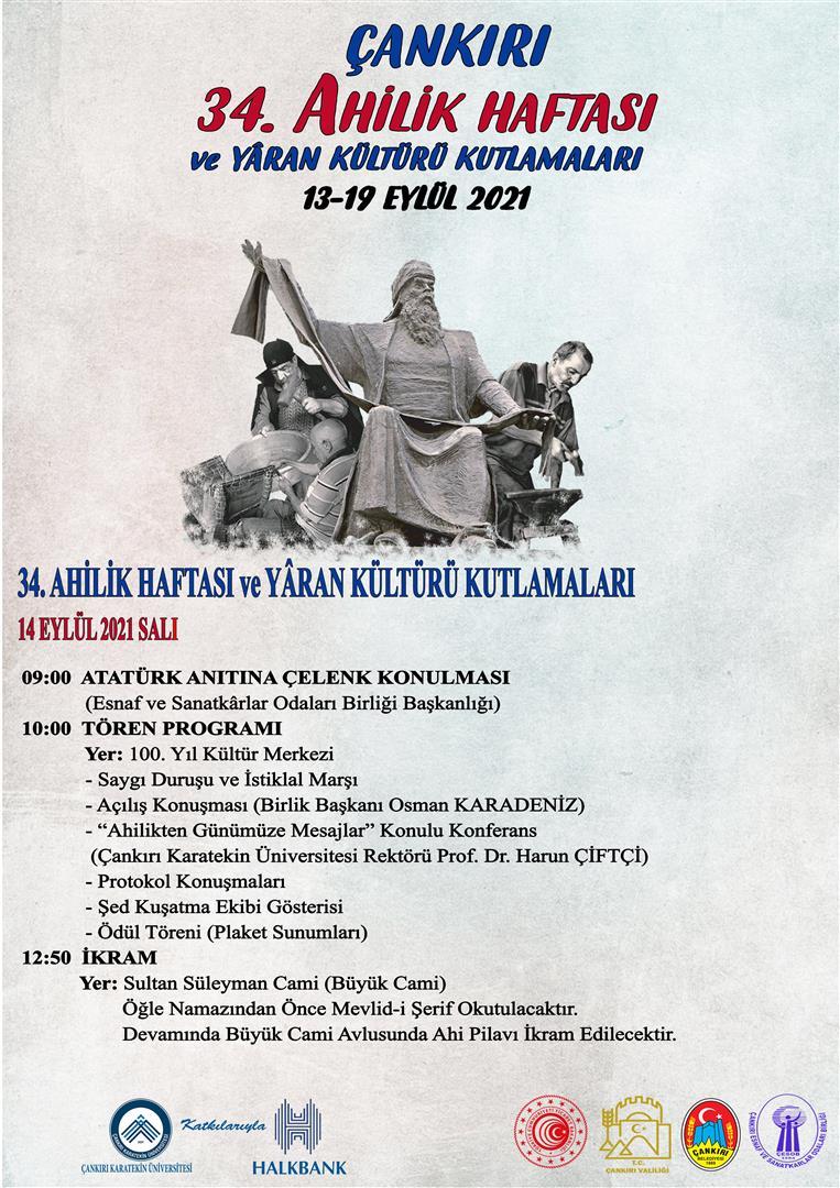 34. Ahilik Haftası ve Yâran Kültürü Kutlamaları Etkinlikleri
