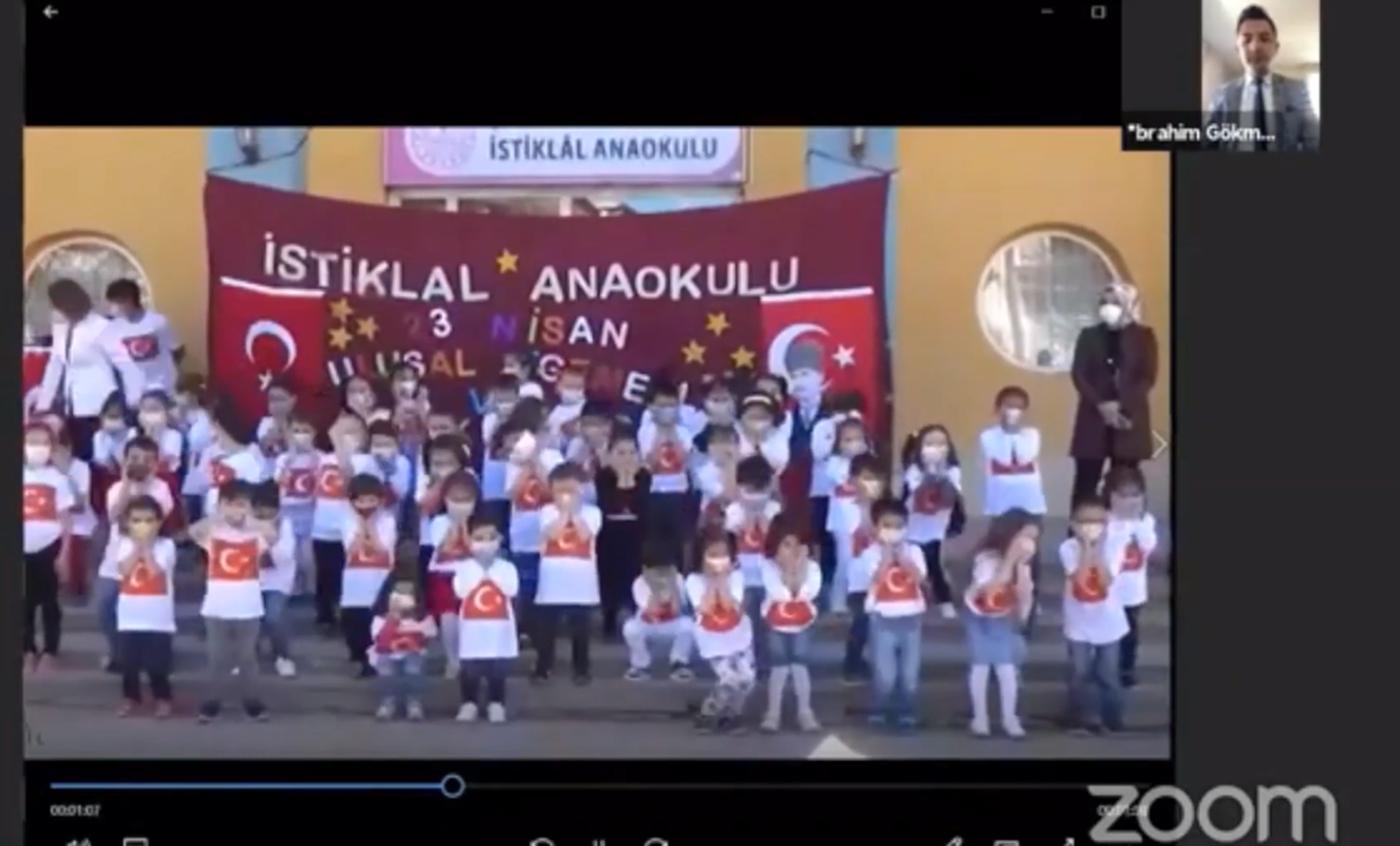 23 Nisan Ulusal Egemenlik ve Çocuk Bayramı Çevrimiçi Olarak Kutlandı