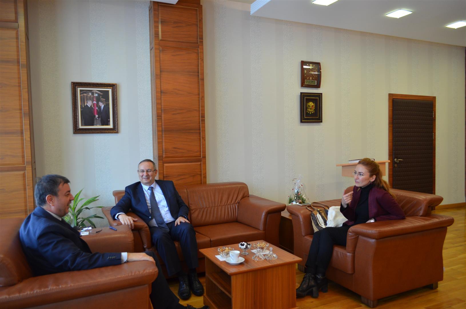 ASELSAN Genel Müdür Yardımcısı Mustafa Kaval, Rektör Ayrancı'yı Makamında Ziyaret Etti Resim