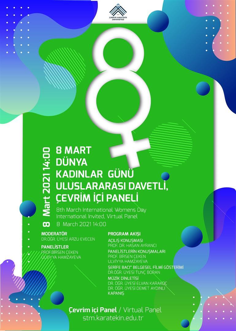 8 Mart Dünya Kadınlar Günü Uluslararası Davetli, Çevrim İçi Paneli