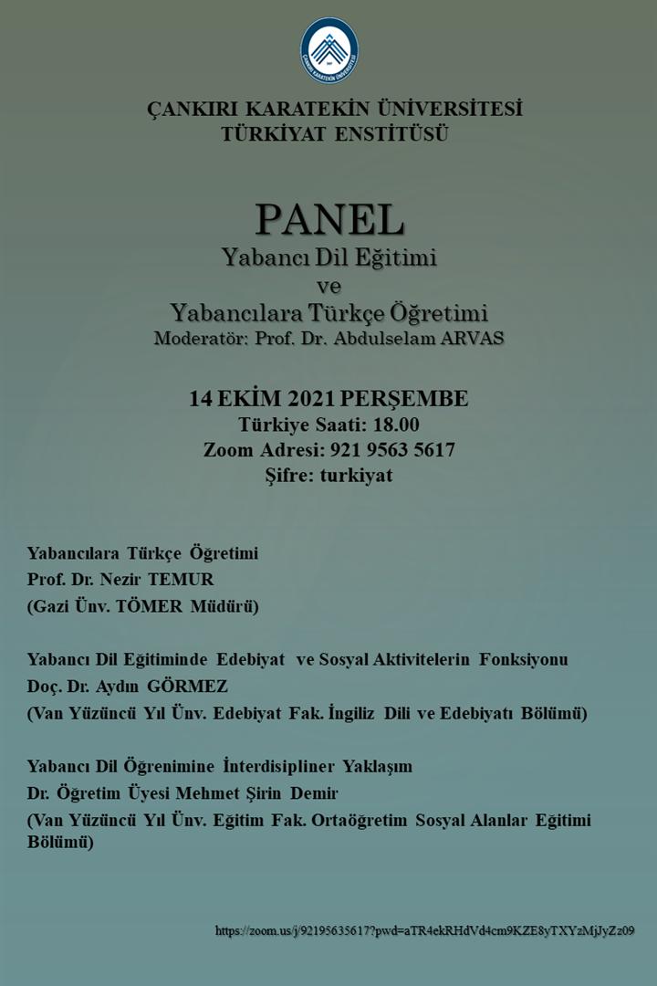 Yabancı Dil Eğitimi ve Yabancılara Türkçe Öğretimi